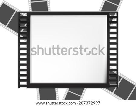 Vector Film Frame eps 10 - stock vector