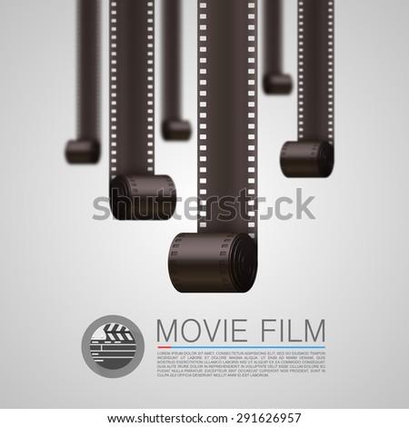 Vector. Film Strip background - stock vector