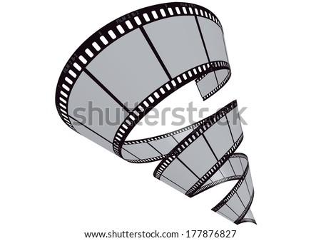 vector film strip 3D - stock vector