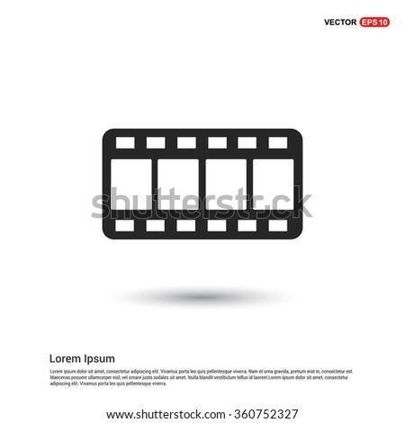Vector Film strip icon - stock vector