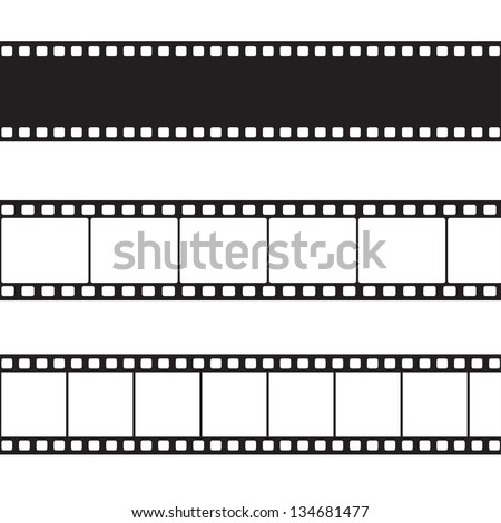 Vector film strip illustration - stock vector