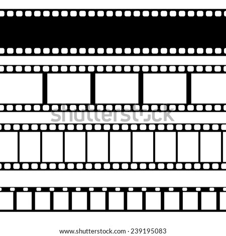 Vector film strip illustration. - stock vector
