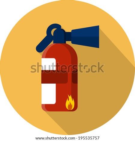 Vector Fire Extinguisher - stock vector