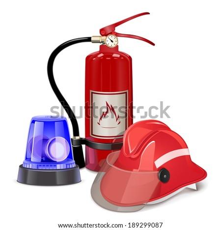 Vector Fire Prevention Concept - stock vector