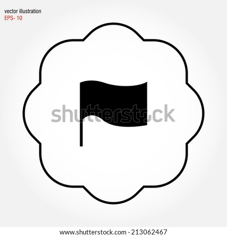 vector flag icon - stock vector