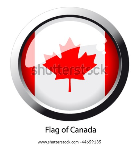 Vector flag of Canada - stock vector
