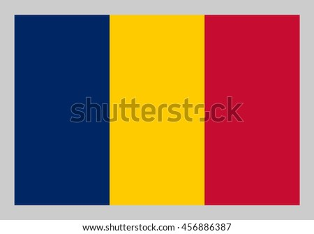 Vector flag of Chad - stock vector