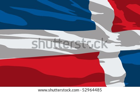 Vector flag of Dominican Republic - stock vector