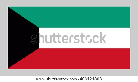 Vector flag of Kuwait - stock vector