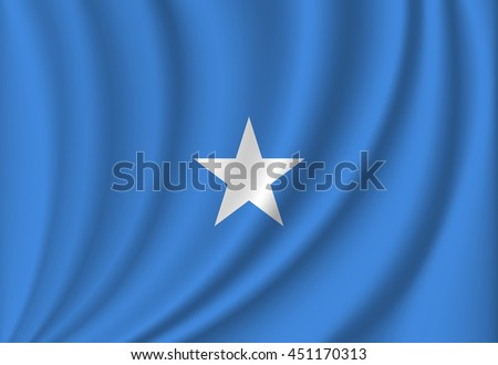 vector flag of Somalia - stock vector