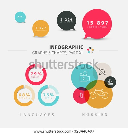 Vector flat design infographic elements - 11. part of my infographic bundle - stock vector
