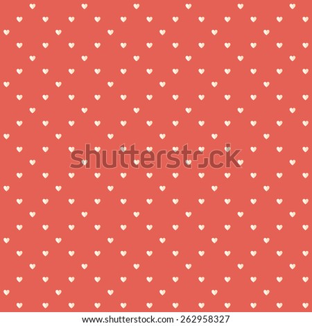 Vector flat heart red texture, ornament, tiny hearts, design elements for greeting card or packing paper, EPS 8 - stock vector