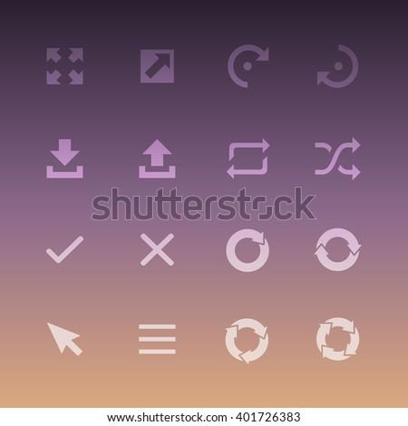 Vector Flat Icon Set - Arrows  - stock vector