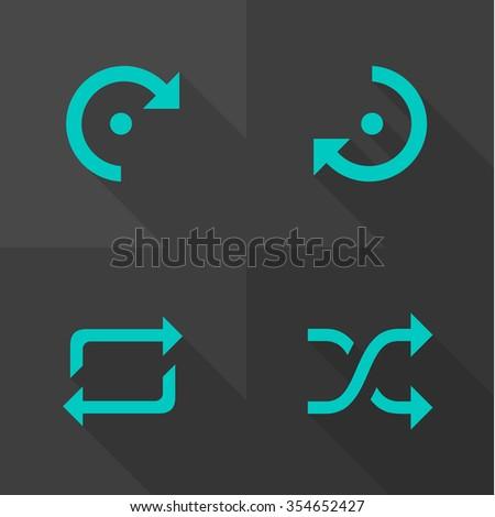 Vector Flat Icons - Arrow  - stock vector