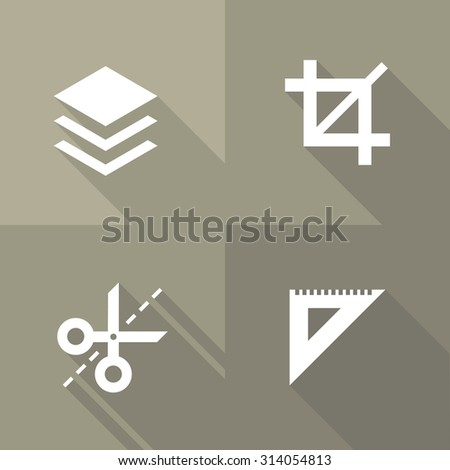 Vector Flat Icons - Edit - stock vector