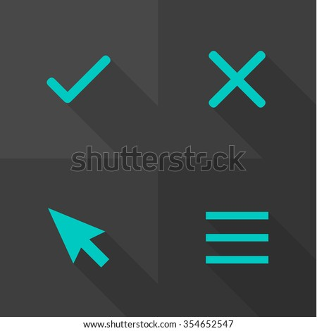 Vector Flat Icons - Interface  - stock vector
