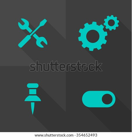Vector Flat Icons - System  - stock vector