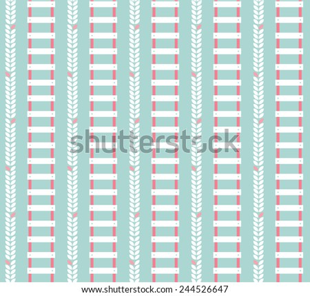 vector flat ladder seamless patterns - stock vector