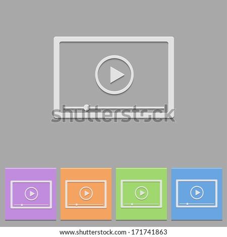 Vector flat player - stock vector