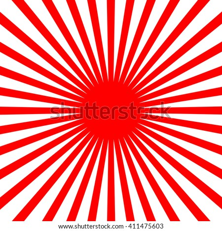 Vector Flat Red sun - stock vector