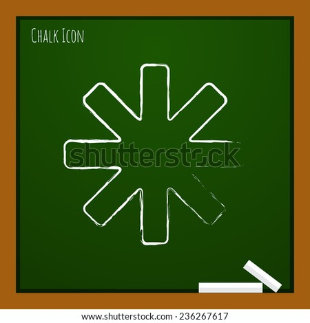 Vector flat star icon isolated outline. Eps10 - stock vector