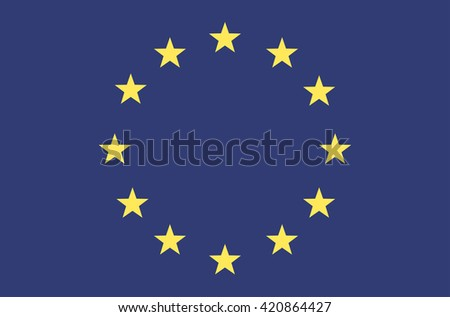 Vector flat style European Union flag. Official design of EU flag. Symbol of Europe with stars in circle. Summit, official, currency, web site button. vector illustration template. Add any text - stock vector