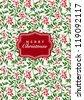 Vector Floral Christmas Background. Easy to edit. Perfect for invitations or announcements. - stock vector