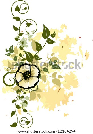 Vector Floral Design Element - stock vector