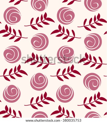 Vector floral seamless pattern. Flowers texture. Jpeg version also available in gallery. - stock vector