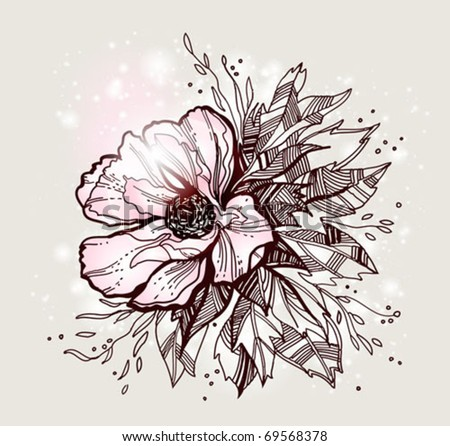 vector flower design - stock vector