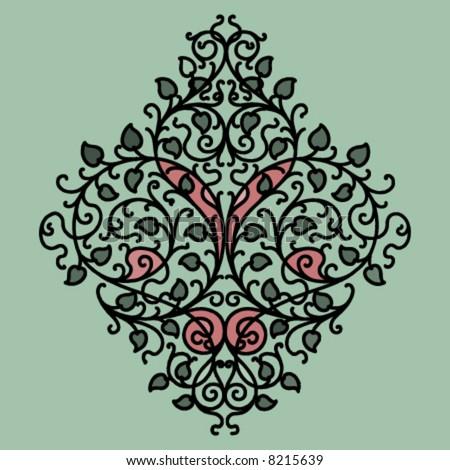 vector flower ornament - stock vector