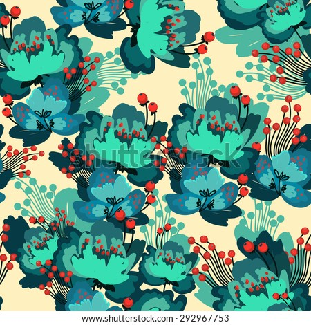 Vector flower pattern - stock vector