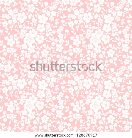 Vector flower seamless pattern background. Elegant texture for backgrounds. - stock vector