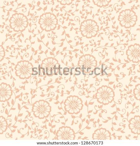 Vector flower seamless pattern element. Elegant texture for backgrounds. - stock vector