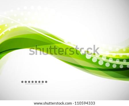 Vector flowing wave line background - stock vector