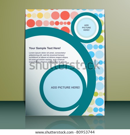 Vector Flyer Design - stock vector