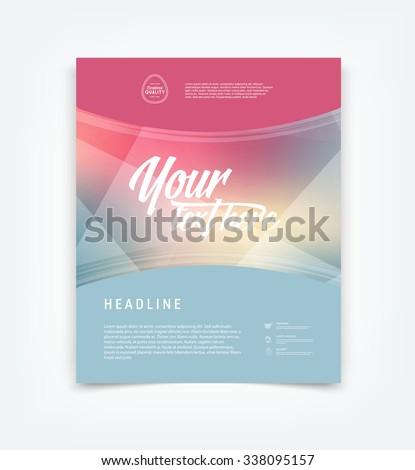 Vector flyer design template  - stock vector