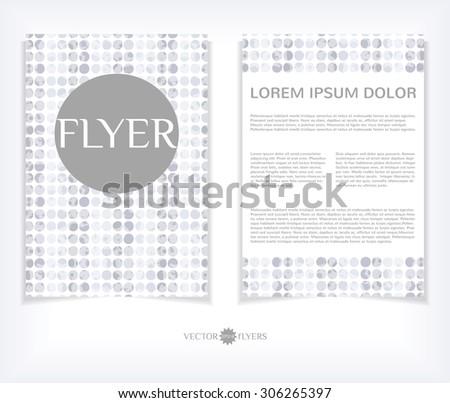 Vector flyer design template. Editable A4 business brochure layout. EPS10 abstract vector. - stock vector