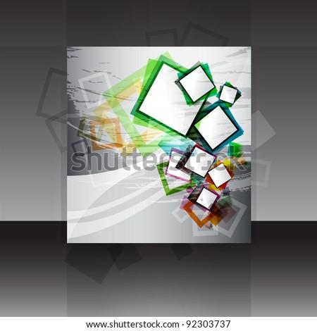 Vector flyer or cover design - stock vector
