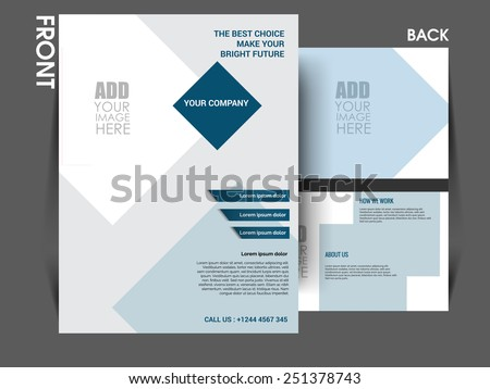 Vector flyer template, brochure, magazine cover can be use for print and publishing. - stock vector