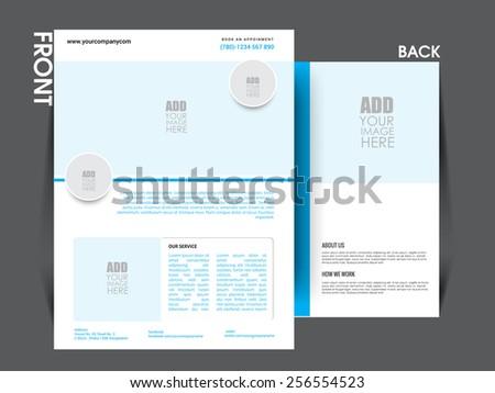 Vector flyer template, brochure, magazine cover. eps10 - stock vector