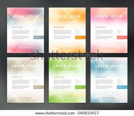 Vector flyer templates collection - stock vector