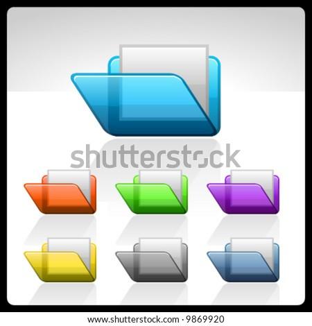 vector folders - stock vector