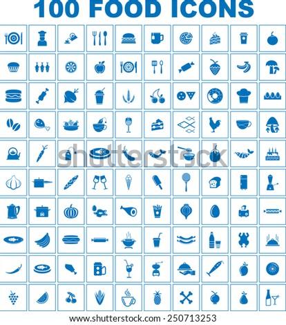 Vector Food Icon Set - stock vector