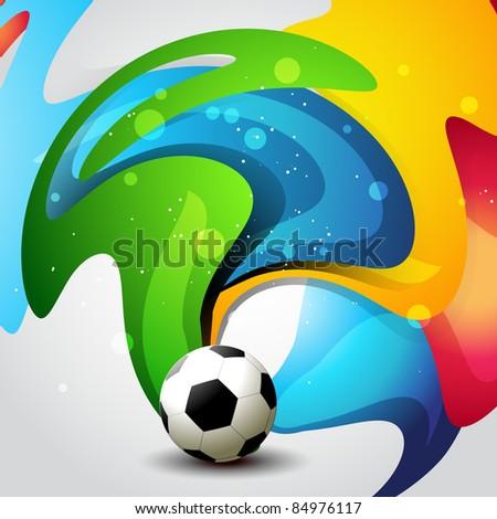 vector football artistic background design - stock vector