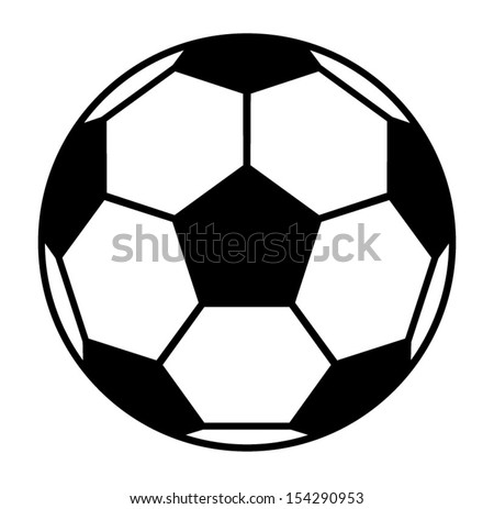 vector football ball - stock vector