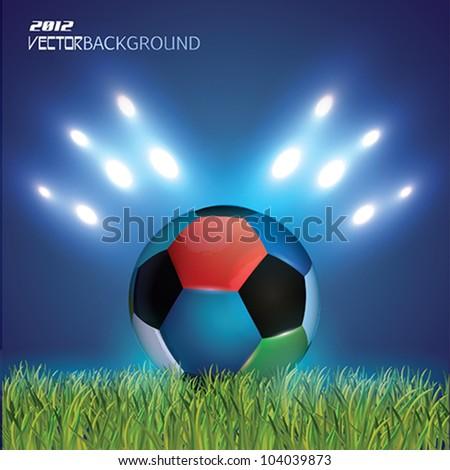 Vector Football ball background - stock vector