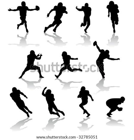 vector football players - stock vector