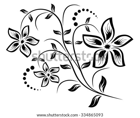 Vector for design flowers and ornament floral - stock vector