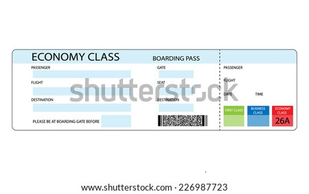 vector format boarding pass, for travel concepts. - stock vector